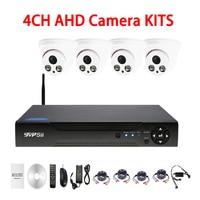 720P 960P 1080P 4CH Mini Dome AHD CCTV Security Camera KIT Free Shipping