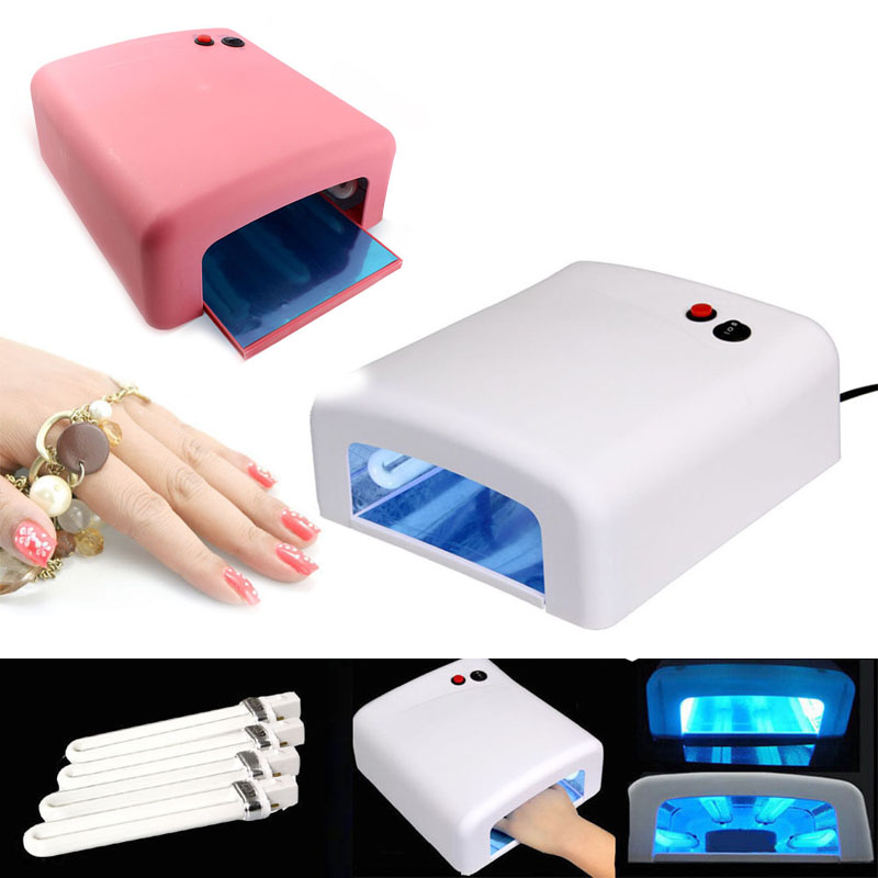 Hot Pro Nail Polish Dryer Lamp 36W LED UV Gel Acrylic Curing Light Spa Kit With 4 Tubes For Women Nail Art Tool H7JP