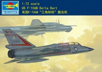 Trumpet  01683 1:72 American F-106B triangulation interceptor  Assembly model