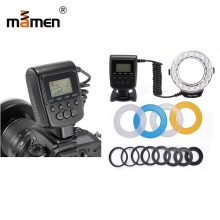 лучшая цена Mamen 5-150cm Macro Ring Flash Light For Canon Nikon Pentax Olympus Panasonic DSLR Camera LED Light Flash Speedlite 3000K-15000K