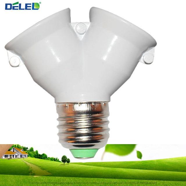 Lamp Holder Converter Socket Conversion with Fireproof Material E27 to 2 E27 Bulb Base type 2E27 Y Shape Splitter Adapter 1Pcs
