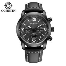 2016 Ochstin Cronógrafo Reloj de Los Hombres de la Marca de Lujo de Cuarzo Ocasional Del Deporte Militar Reloj Relogio masculino de Los Hombres de Cuero Genuino