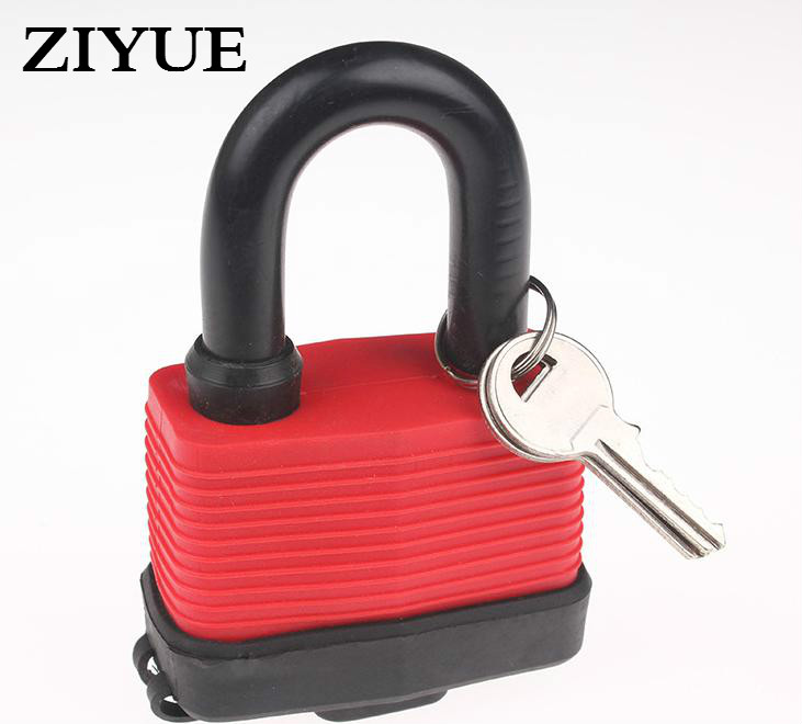 Free Shipping 65mm Short Beam Outdoor Laminated Padlock Heavy Duty Waterproof Rustproof Garage Garden Gate Keyed Padlock цена