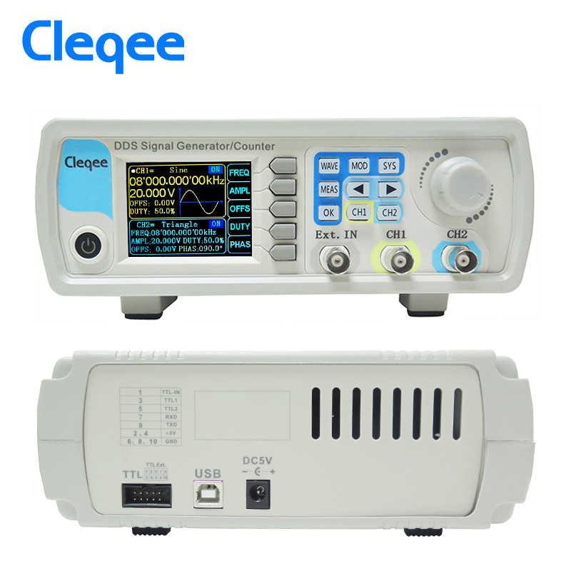 Cleqee JDS6600-60M 60 MHz Máy Phát Tín Hiệu Điều Khiển Kỹ Thuật Số Đôi Máy DDS Chức Năng Máy Phát Tín Hiệu Tần Số Đồng Hồ Đo Tùy Ý