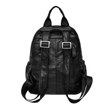 iPinee brand women backpack Genuine Leather shoulder bag female multifunctional backpack fashionable school bags for girls