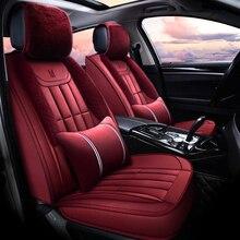 цены Winter Plush Car Seat Cover Cushion For Renault Scenic Fluence Latitud Koleos Laguna Megane cc Talisman Car pad