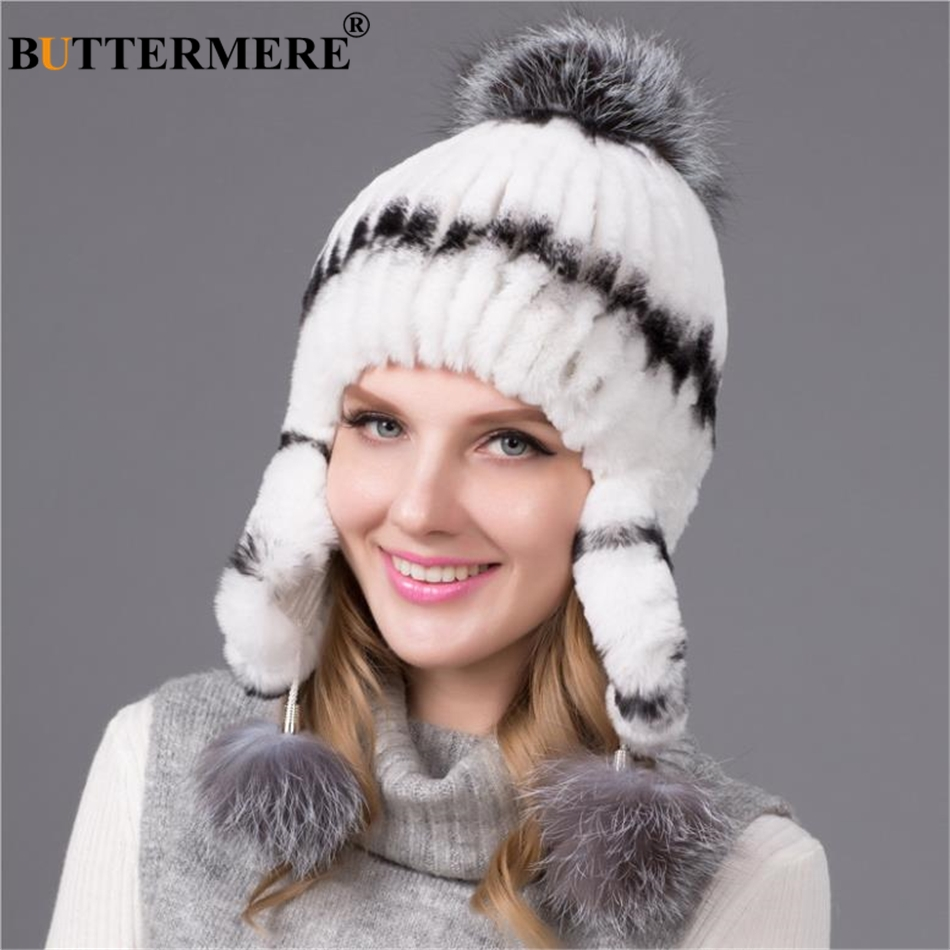 MZ248 Women Winter Hat Solid Black Grey White Ladies Bomber Hats Caps Warm  Russian Ushanka Hats ... 3aaa635c42b
