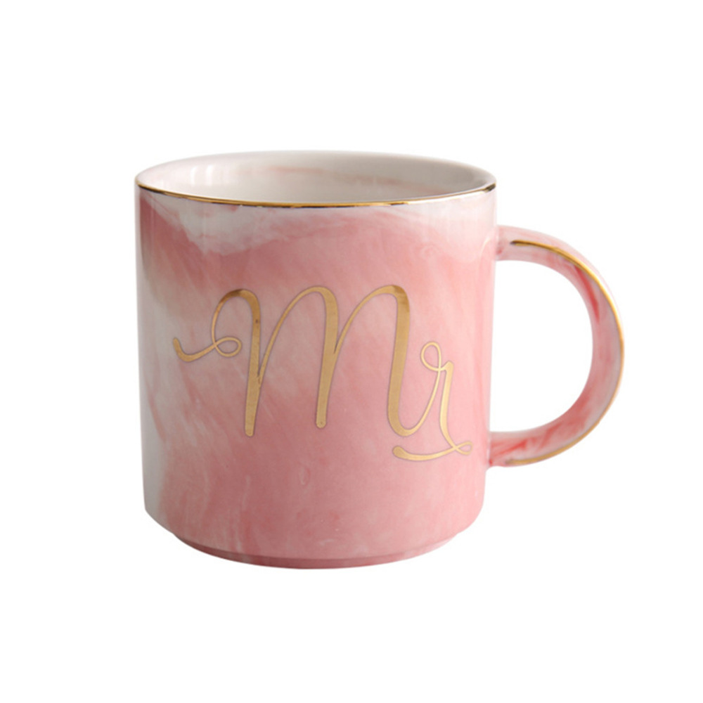 aliexpresscom buy drinking milk cup christmas coffee couples holder with lid bottle mug for marble tea cups set ceramic water glass pots mr mrs from - Christmas Coffee Cups