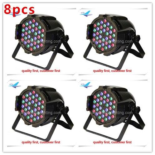 8/lot 36x3w led par lamp led par cans 3watt rgb 3 lot
