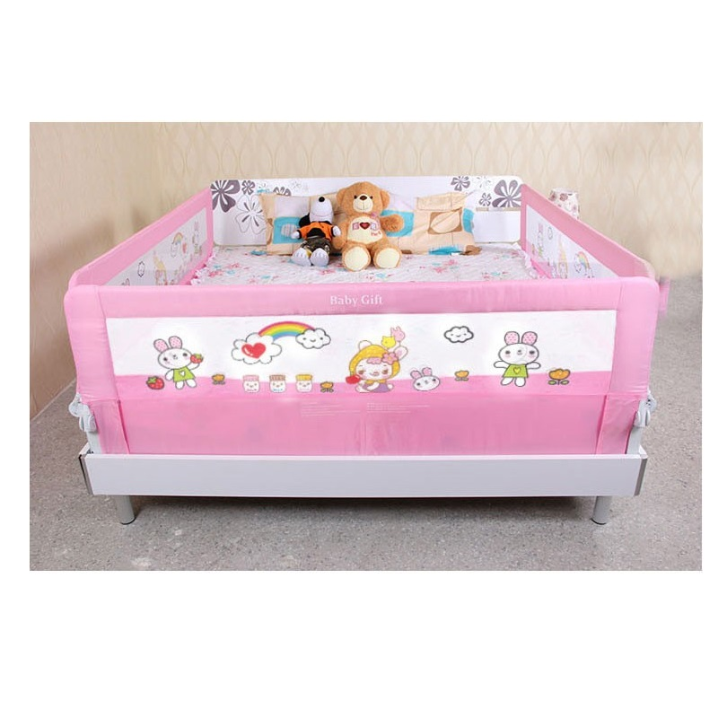 8069cm Baby Safety Bed Rail Foldable Bed Guardrail In Gates