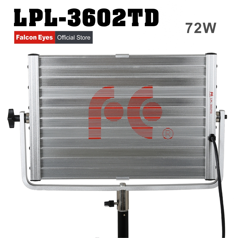 FalconEyes Diving Video Light 72W Soft Daylight Panel Light Dimmable 360pcs LED Studio Photo Video Interview Lighting LPL-3602TD cheap dimmable 1200w hmi fresnel light daylight electronic ballast with case lighting film for movie light sdutio lighting