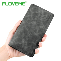 FLOVEME Phone Bag Case For IPhone 7 6 6S Plus Original PU Leather Wallet Case For