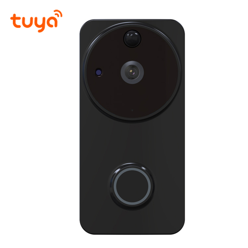 1080P IP54 Outdoor Tuya Battery Powered Ring Smart Wi-Fi Enabled Video Doorbell Camera PIR Motion Detection Works Alexa Google