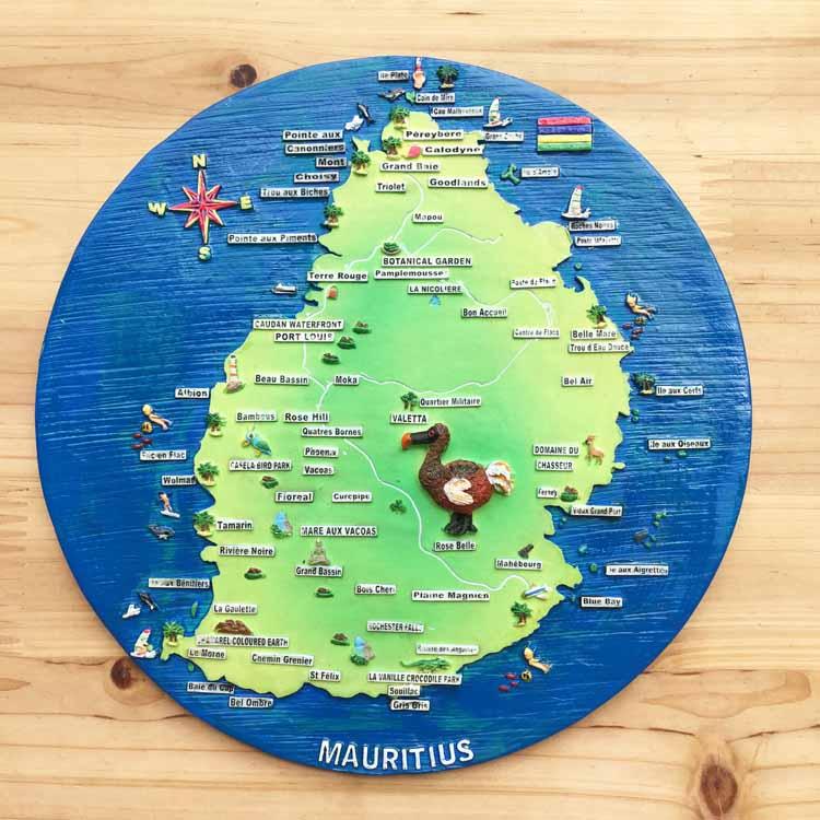Mauritius tourist souvenirs Dodo embossed crafts decorative