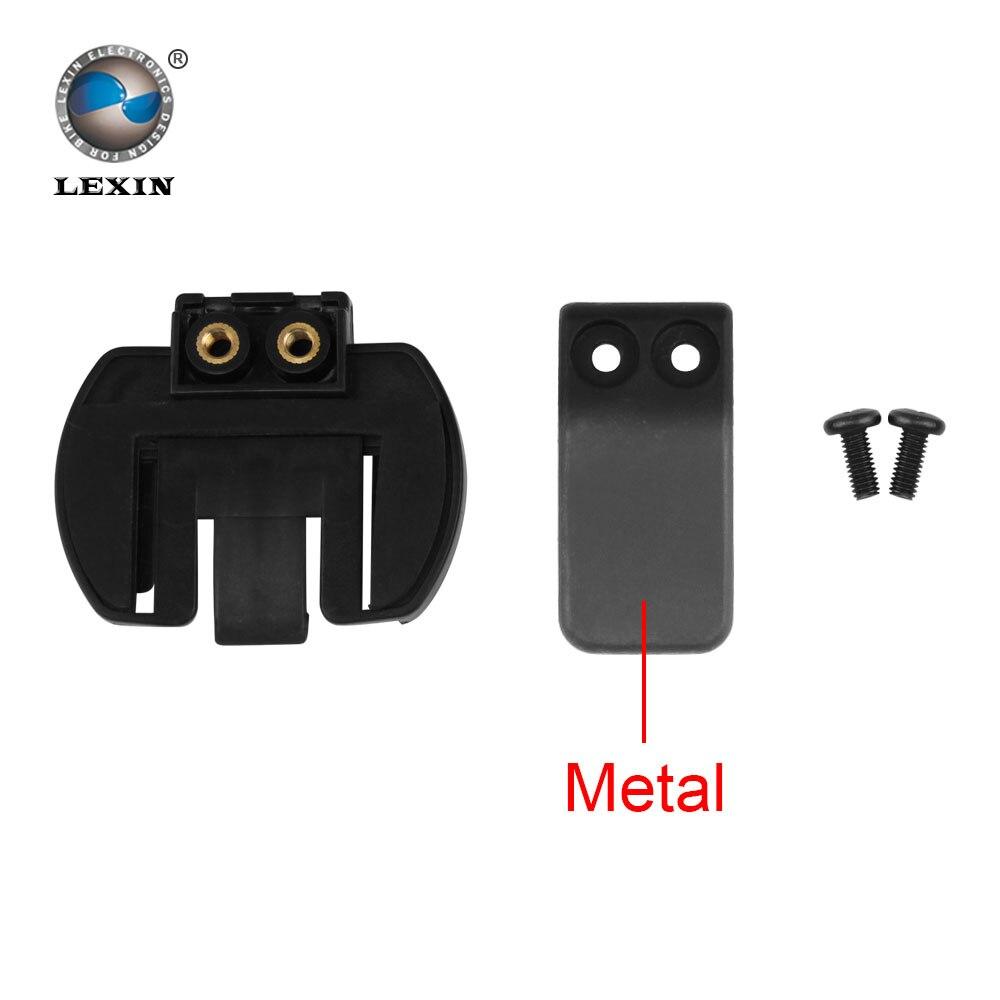 Kostenloser versand 1 stücke Metall Clip clamp Set Zubehör für clamp LX-R6 1200 mt motorrad Bluetooth Helm Sprechanlage Intercom