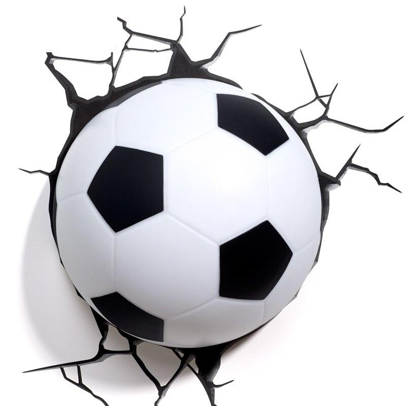 Dreams division Avenger Football 3D créatif applique LED chambre lampe de chevet veilleuse personnalité