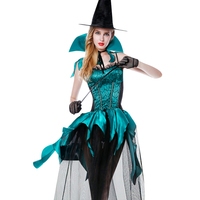 2017 Sexy Woman S Halloween Costume Gothic Sexy Witch Adult Dress Hat Adult Costume Fancy Dress