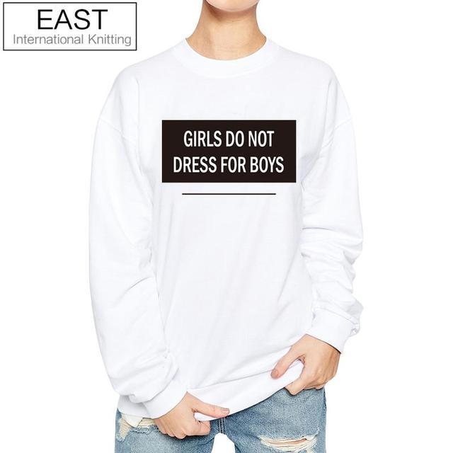 ccfcb1d20 East knitting h1024 meninas não vestir para rapazes engraçados mulheres  camisola punk rock tops outono hoodies