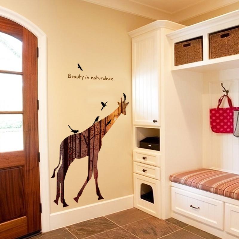 3D Giraffe Elephant Wall Sticker Baby Nursery Giraffe Wall Decal ...