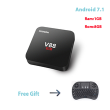 V88 1G 8G Smart TV Box RK3229 Quad Core Android 7.1 4K Wifi