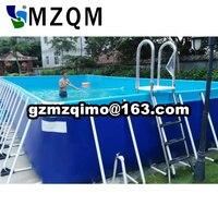 Стальная рама бассейн, Стенты бассейн с лестницы для продажи, металлический каркас плавательный бассейн с фильтрующим насосом