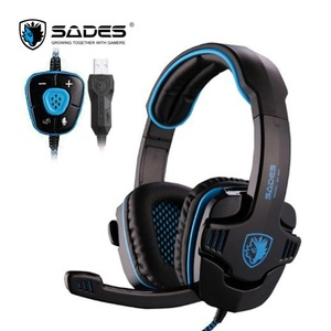 Sades Wolfang Gaming Headset USB 7.1 Surround Sound bass Game Headphone for computer Laptop PC