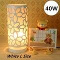 Cilindro mesa casa lâmpadas 40 W amarelo / rosa / branco de noite passado moagem branco quente para quarto / escritório / sala de jantar