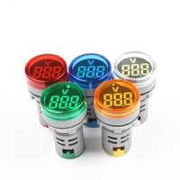 Instrumento de medición de voltaje de 22mm Mini voltímetro colorido AC20/60 ~ 500V voltímetro Indicador de AD101-22VM amarillo verde azul blanco