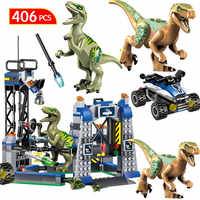 Jurassic Welt 2 Blöcke Jurassic Park Dinosaurier Transport Tyrannosaurus Rex Tier Ziegel Spielzeug Für Kinder Geschenk