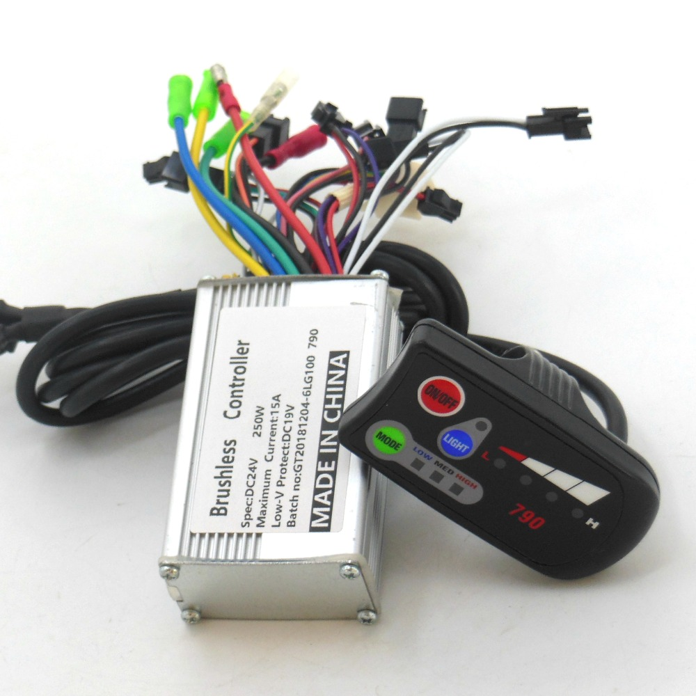 GREENTIME High Quality 24V 250W E-bike Brushless Motor 790 Controller BLDC Motor Driver+790LED Display