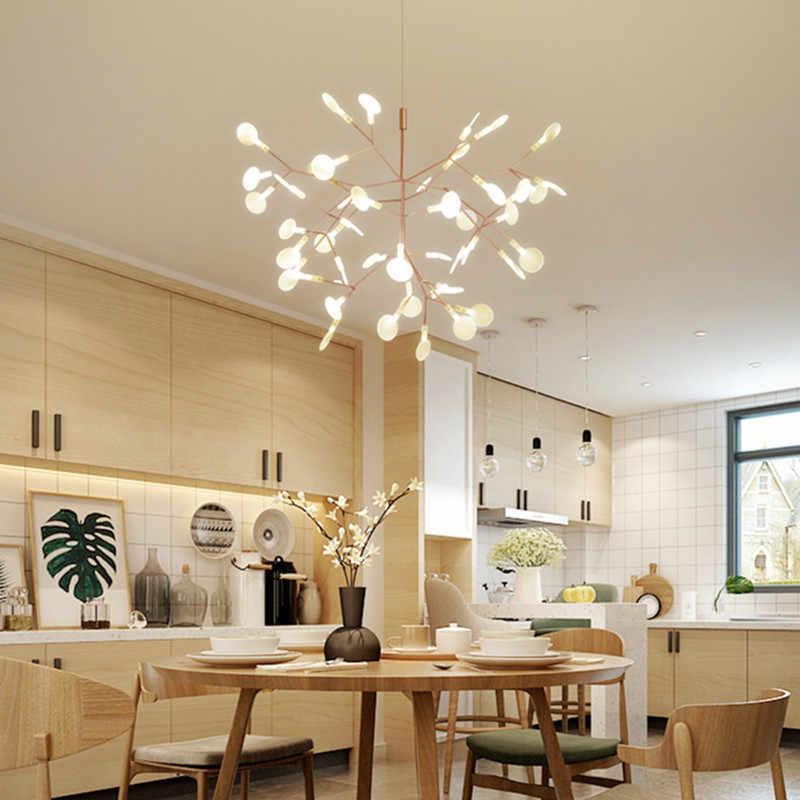 Современный арт дерево листья Led столовая подвесной светильник Nodric ветви дерева Дизайн студийный светильник светильники бар кофе светильник