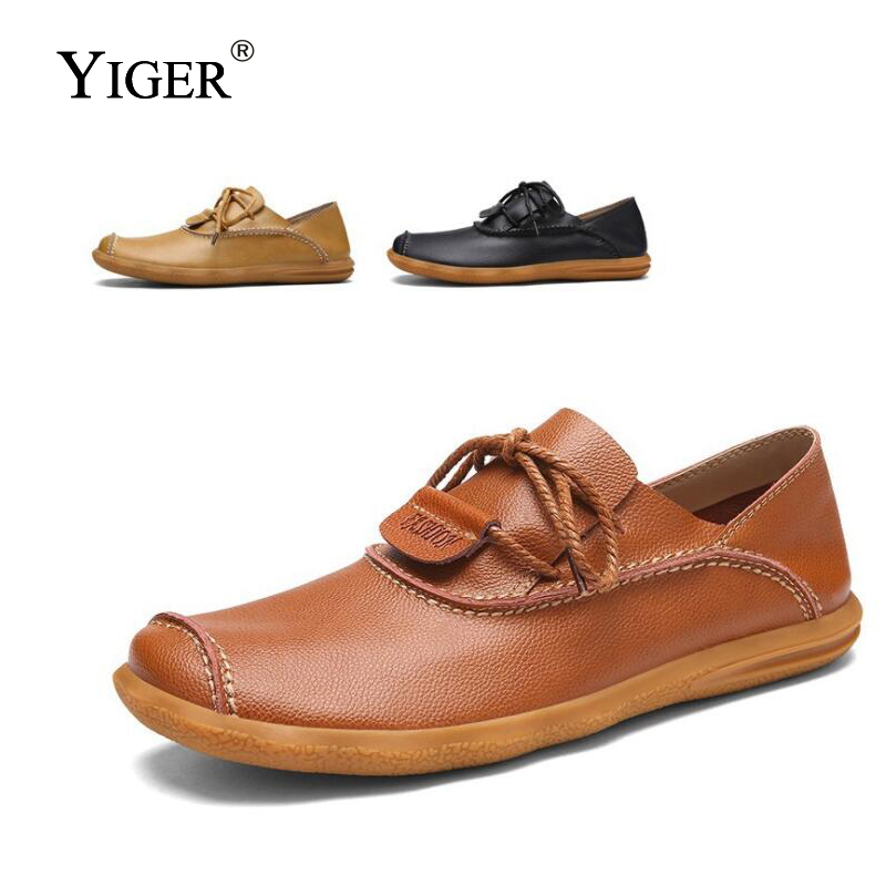 YIGER New Man Casual Shoes Leisure Two kinds of wearing casual mens shoes Breathable Oxford non-slip soles male 129