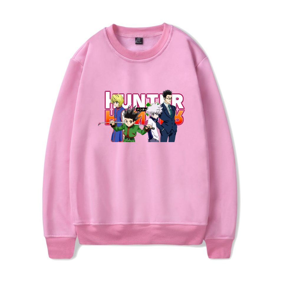 Kpop Hunter X Hunter Sweatshirt Men Anime Long Sleeve Tracksuit Loose Hoodie Sweatshirt Casual Pullovers Sweatshirt Boys XXS-4XL