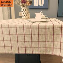 Modern Simple Cotton And Linen Tablecloth Pastoral Style Table Cloth Rectangular Tablecloths