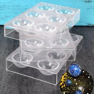Image 1 - Forma do czekolady 6/8/12/15 duże pół kulki kształty czekoladowe formy poliwęglanowe 3d poliwęglanowe cukierki galaretki formy narzędzia