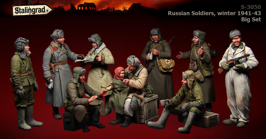 Unpainted Kit  1 35 WWII  Russian Soldiers, winter 1941-43   figure Historical WWII Figure Resin  Kit Free Shipping