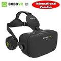 2017 nova bobovr x1 all in one vr capacete óculos 3d octa-core 2g/32g virtual óculos de realidade com fone de ouvido língua muti-hdmi
