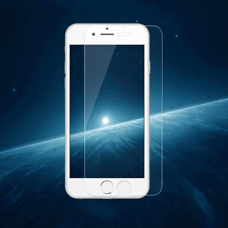 ل iphone X واقي للشاشة الزجاج المقسى ل iphone XR XS ماكس 6 6 S 8 زائد شاشة الكريستال السائل غشاء واقي الزجاج ل iphone 7