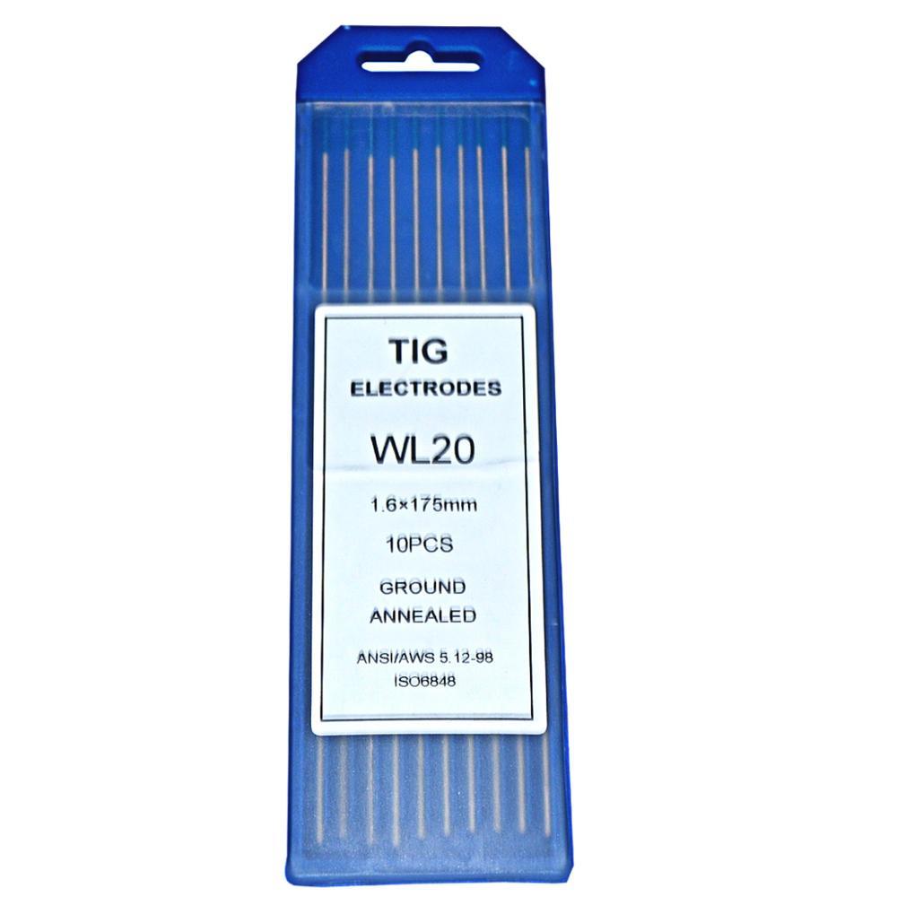 """Полировка Вольфрам электроды 1/2"""" 1/16"""" 2/2"""" 3/32"""" 1/"""" 5/32"""" 1/"""" 5/32""""* """" Длина WT20 WC20 WS20 WL15 20 WP20 Tig сварочные электроды - Цвет: Blue-WL20"""