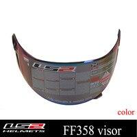 Original LS2 FF358 Full Face Helmet Visor Replacement Shield For LS2 Ff358 Multicolor External Lens Clear