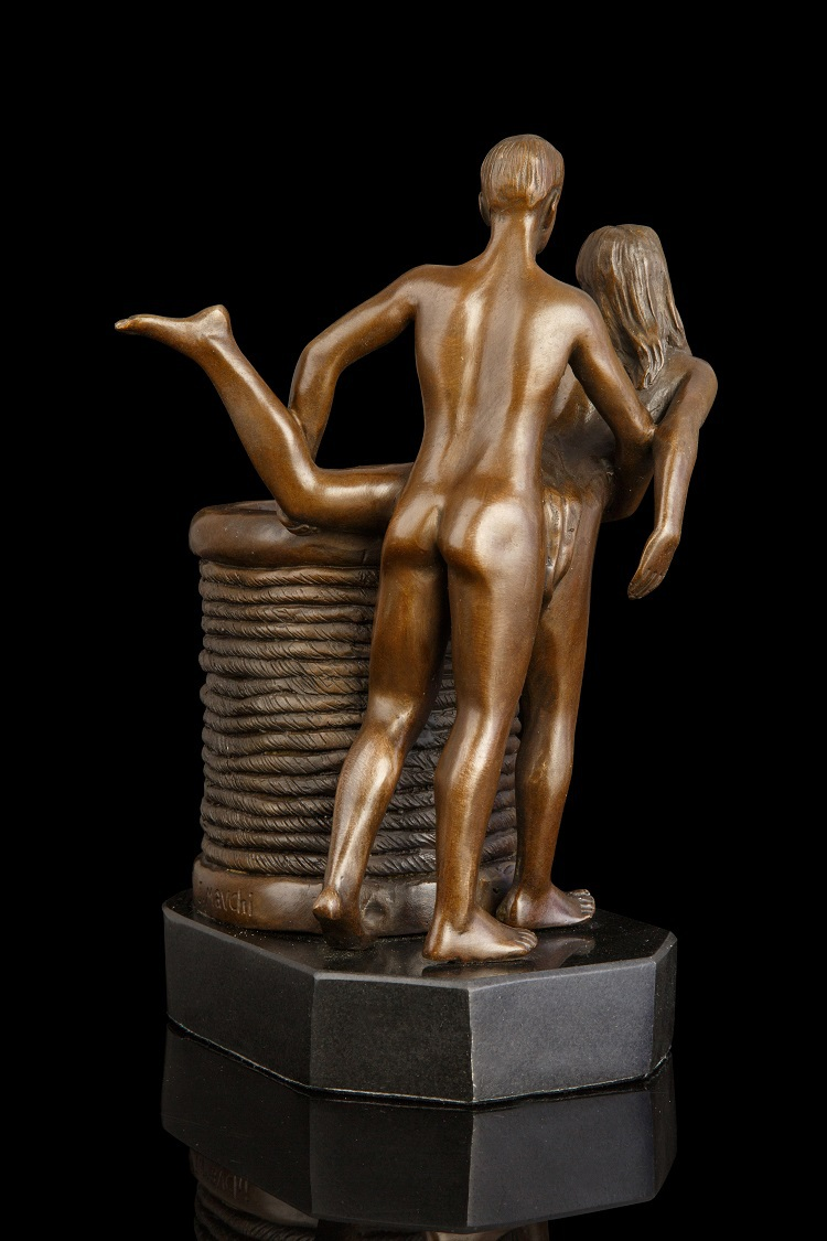 Woman nude bronze sculpture