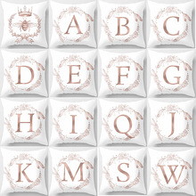 Hot saleEnglish words A-X double-sized pattern pillow cases square Pillow case cute cartoon rabbit pillow covers size 45*45cm hot sale beauty flower cats pillow cases square pillow case cute cartoon rabbit pillow covers size 45 45cm