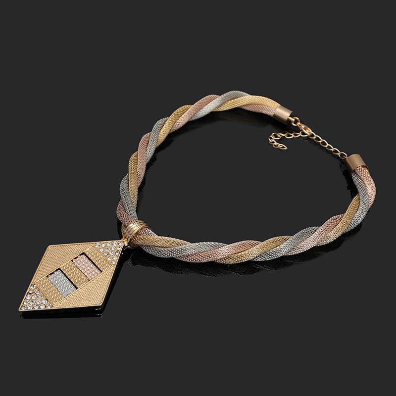 Fani Dubai gold bunte Schmuck-Set Marke Nigerian hochzeit frauen zubehör schmuck set Großhandel erklärung Braut schmuck set