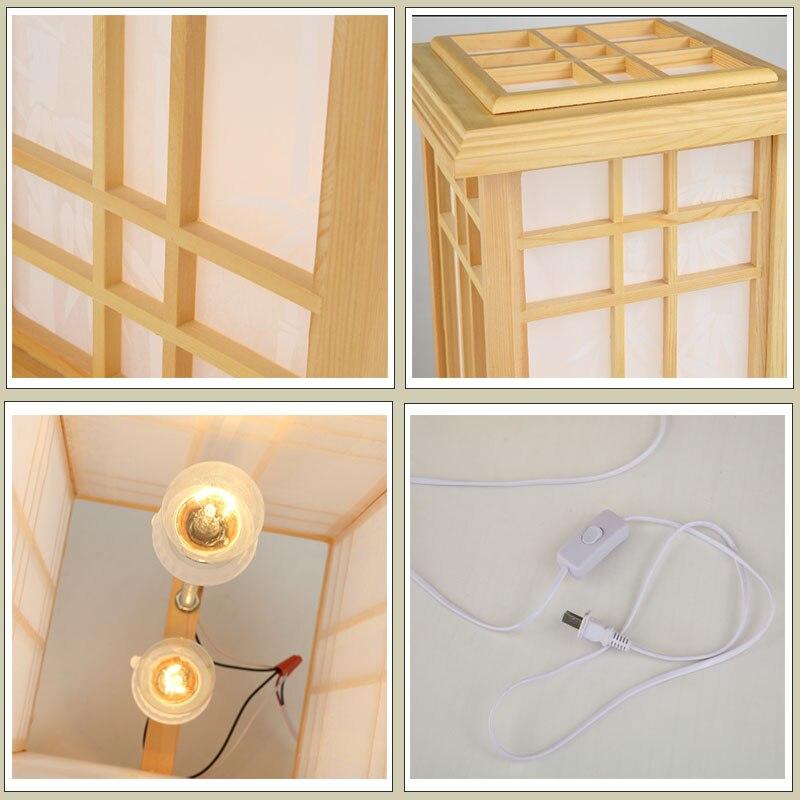 Aliexpress Marmenkina Japanischen Stil Tischlampe Innen Lampe Wohnzimmer Boden Holz Schlafzimmer Den Papier Schreibtisch AC110 240V