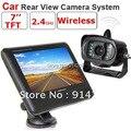 2.4G sin hilos de opinión posterior kit de cámara incluye un 2.4G cámara con 7 pulgadas TFT LCD monitor C00602 inalámbrica de vídeo del coche cámara