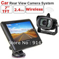 2.4G wireless car rear view camera kit includes a 2.4G camera with 7inch TFT LCD monitor C00602 wireless video car camera