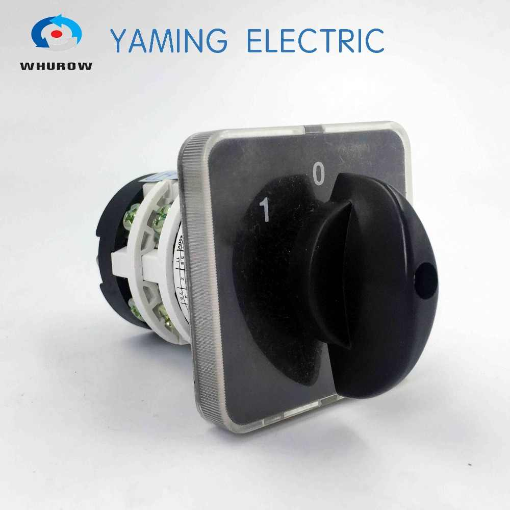 Manufacturer 3 position rotary switch 20a 2 phase electrical changeover cam rotary switch selector main switch