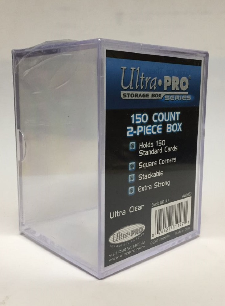 Ultra Pro 2-Piece 250 Count Clear Card Box UPI 81148