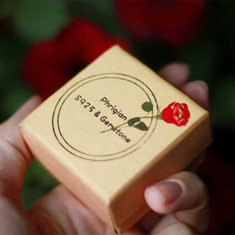 ไม่ปลอม S925 Fine Antique Shop แหวนทับทิมผู้หญิง Handmade VINTAGE ธรรมชาติ Marquise Big Stone Retro ทับทิมสีแดง Jasper Agate