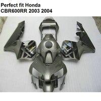 Injection molding fairing for Honda CBR 600RR 2003 2004 silver fairings kit CBR600RR F5 03 04 BM47